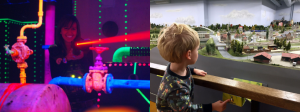 Lasergamen in combinatie met Mini-world.